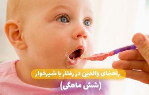 راهنمای والدین در رفتار با شیرخوار (شش ماهگی)